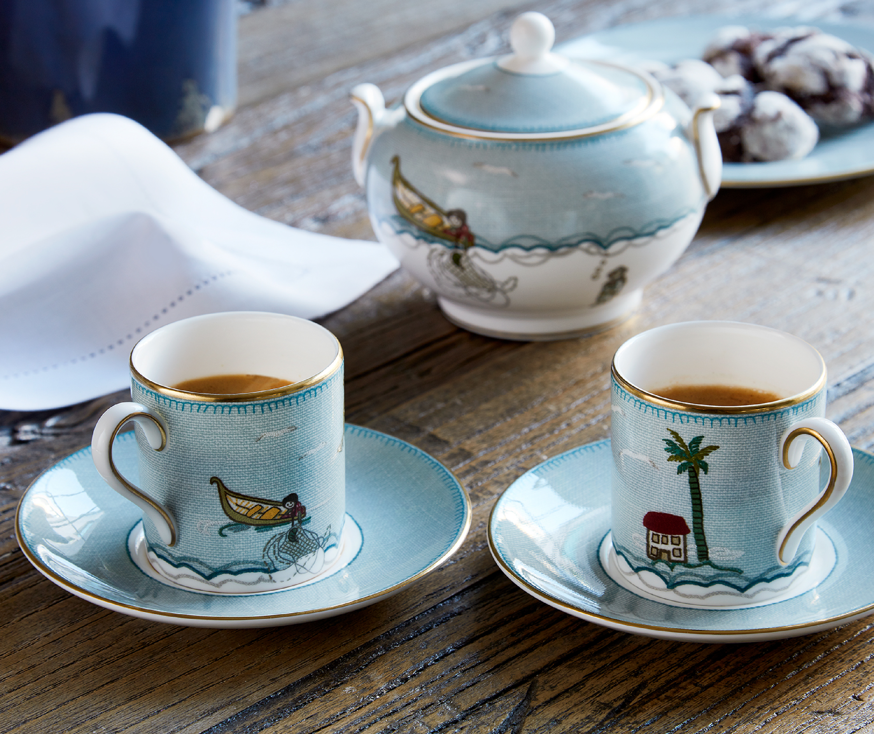 Firmdale Hotels Shop Kit Kemp Four Espresso Cups and Saucers