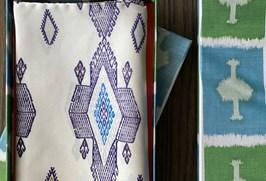 Silk pocket square in a box
