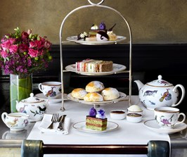 Mary Poppins themed Afternoon Tea with cakes and tea set