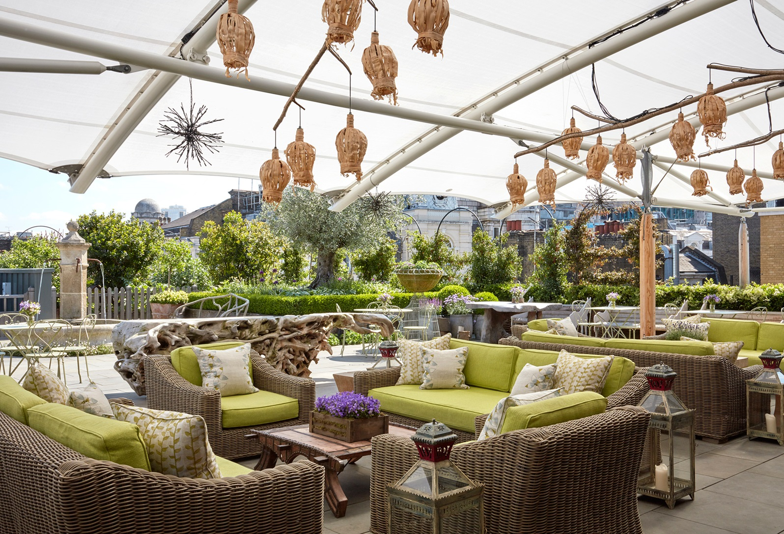 Firmdale hotels roof terrace for What is a hotel terrace